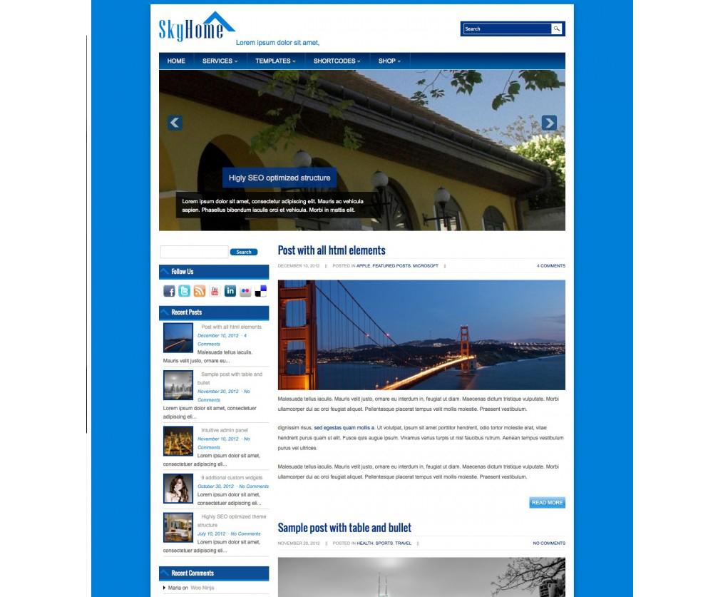 Sky Home WordPress Themes Download