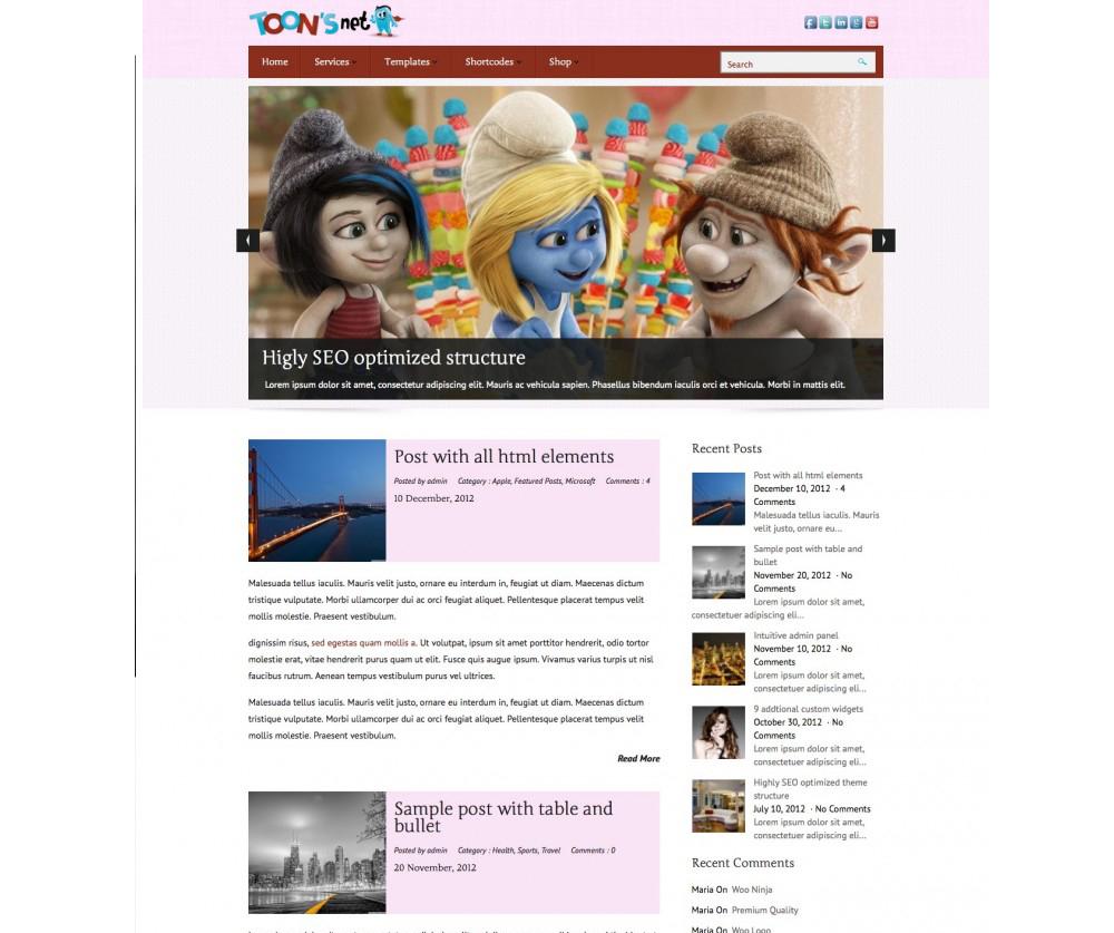 Toonsnet WordPress Themes Download
