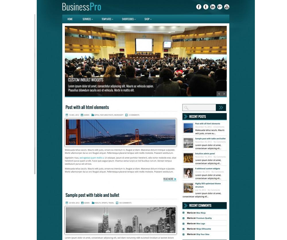 BusinessPro WordPress Download