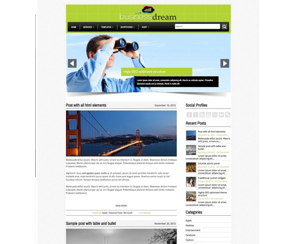 BusinessDream WordPress Theme