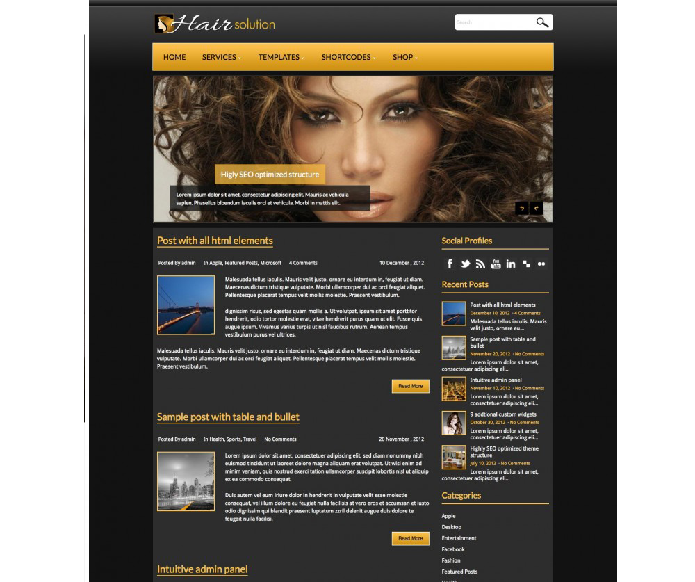 HairSolution WordPress Download