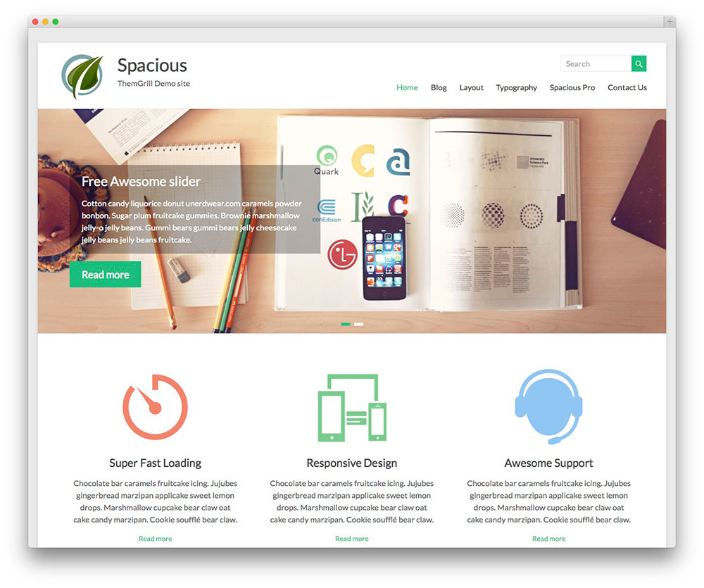 Spacious Free WordPress Themes