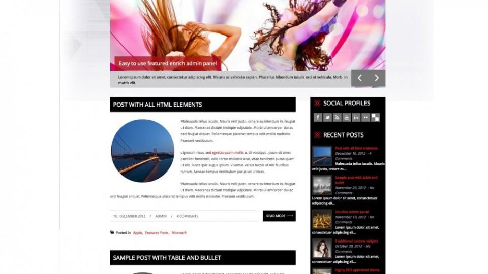 DanceStar responsive WordPress theme