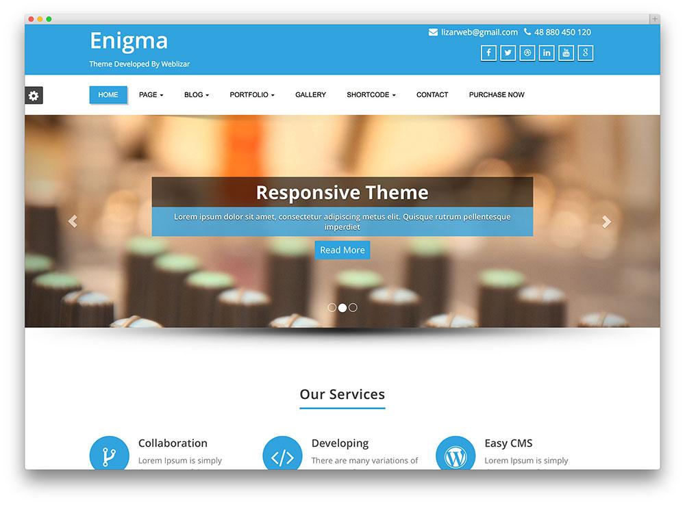 Enigma Theme WordPress