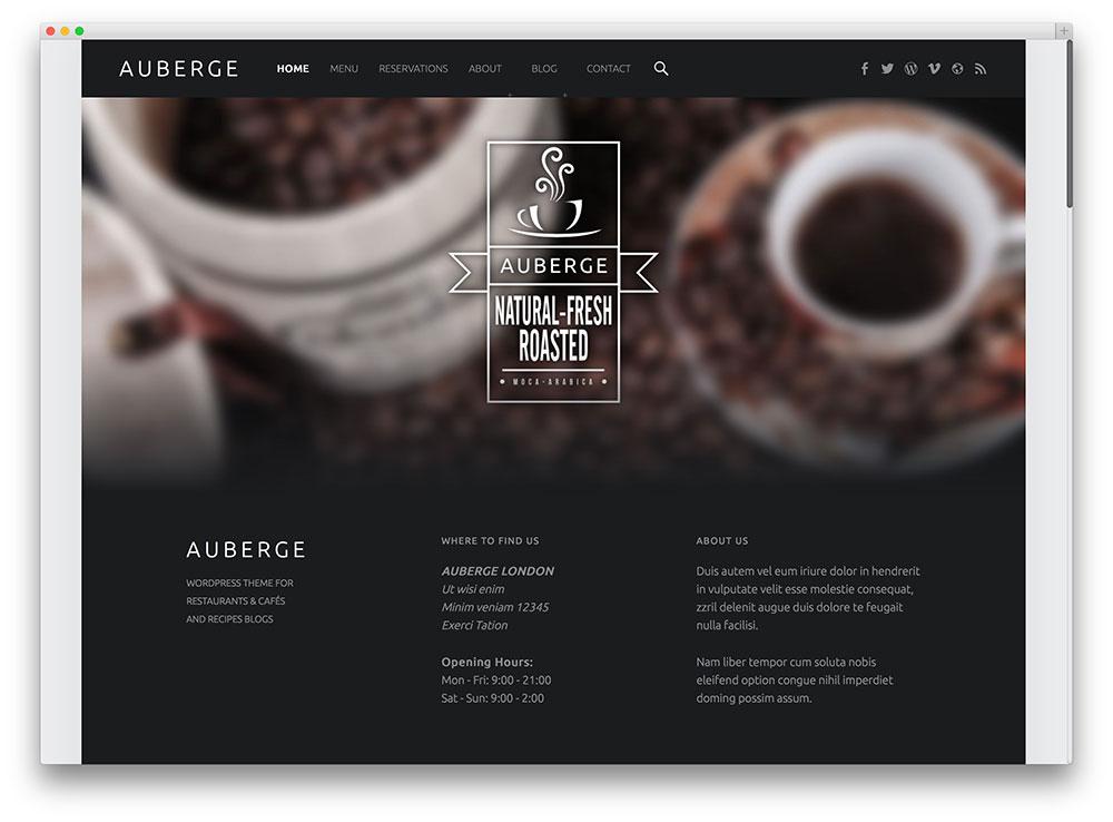 Auberge WordPress Themes Download