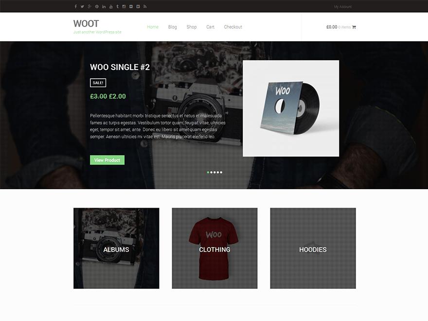 Woot is a WordPress eCommerce theme