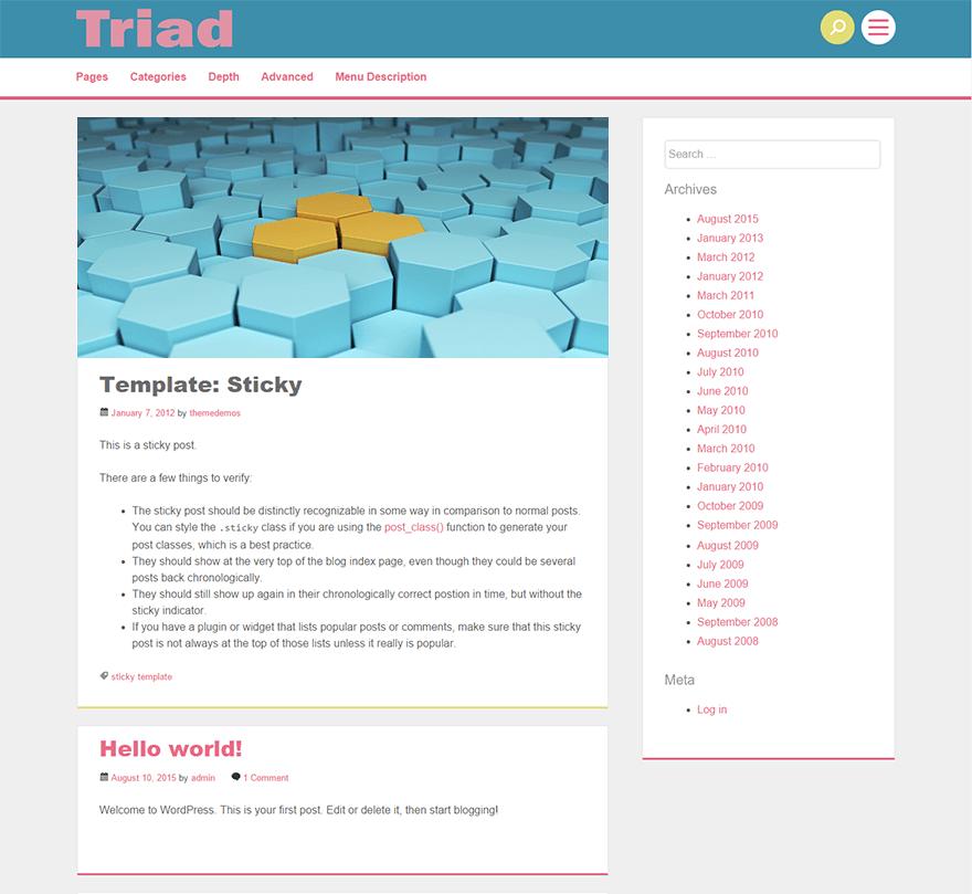 Triad WordPress Theme Download