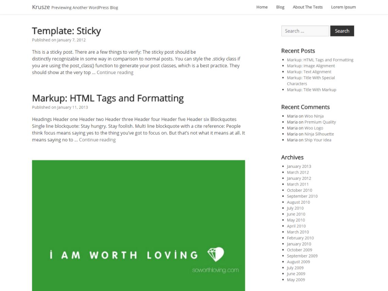 Krusze WordPress Theme