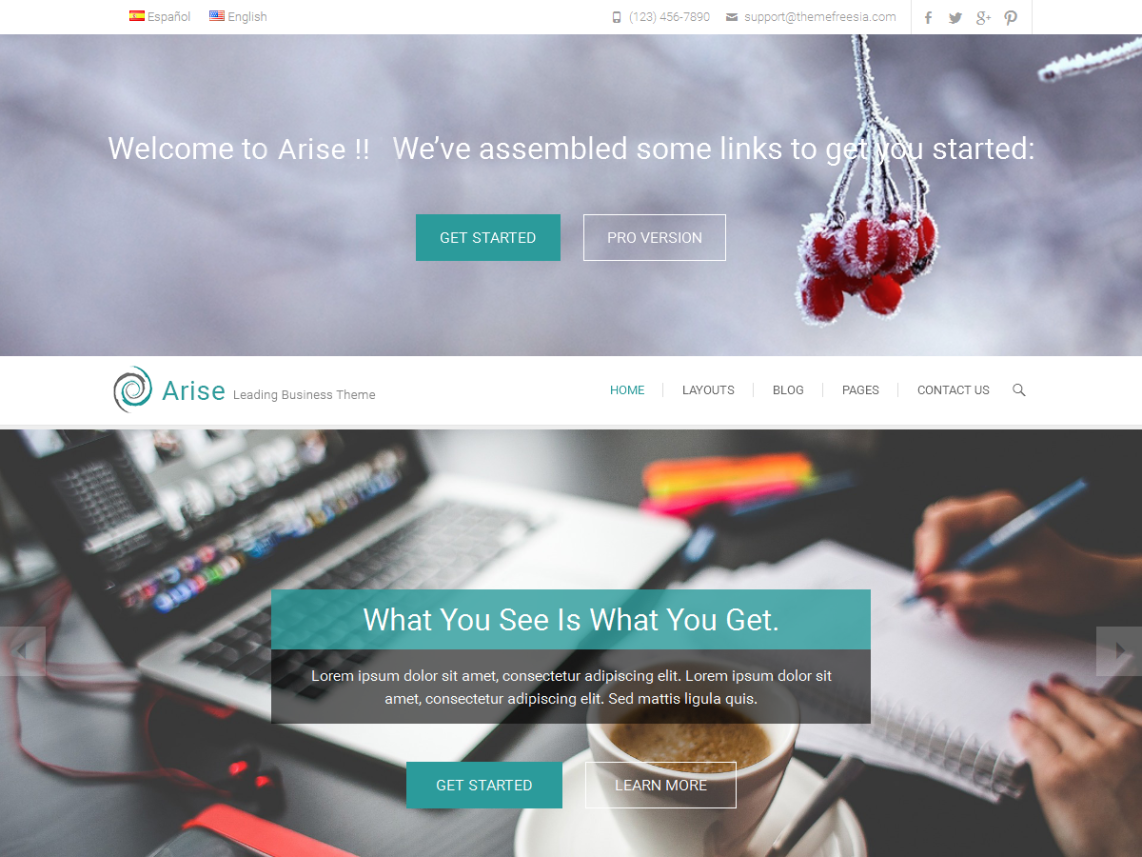 Arise WordPress Theme
