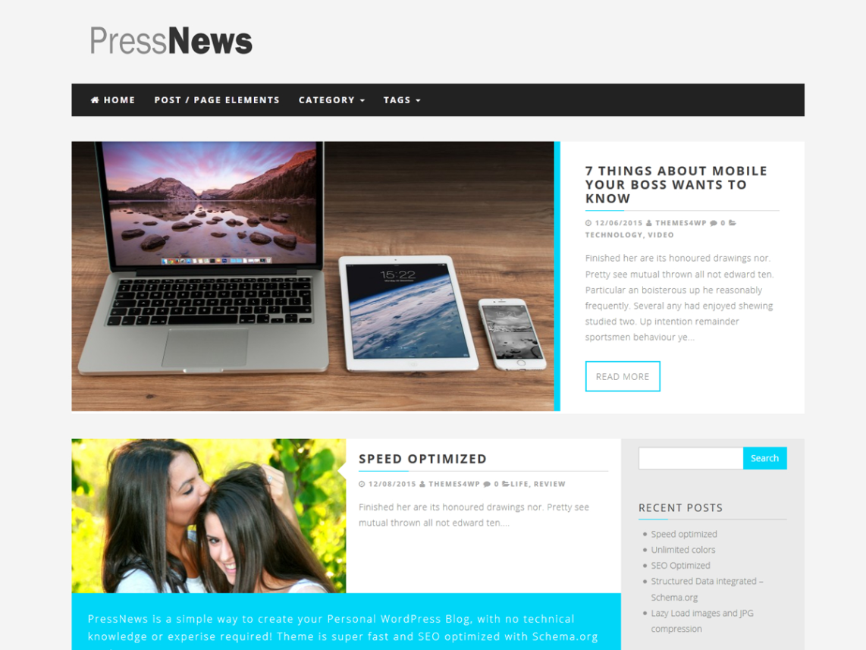 PressNews Theme