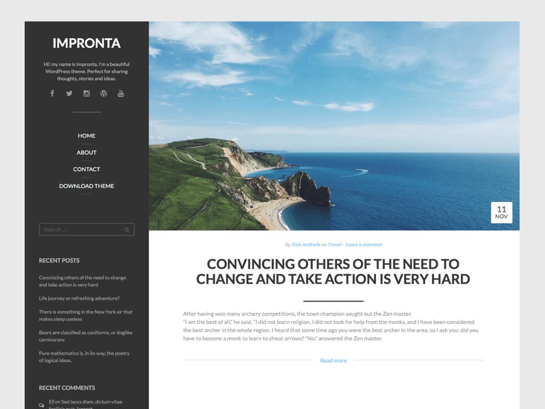 Impronta WordPress Theme