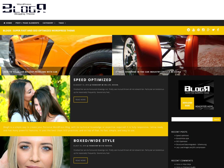 BlogR WordPress Theme
