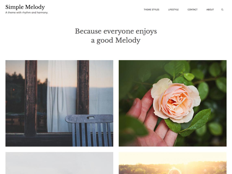 Simple Melody WordPress Theme