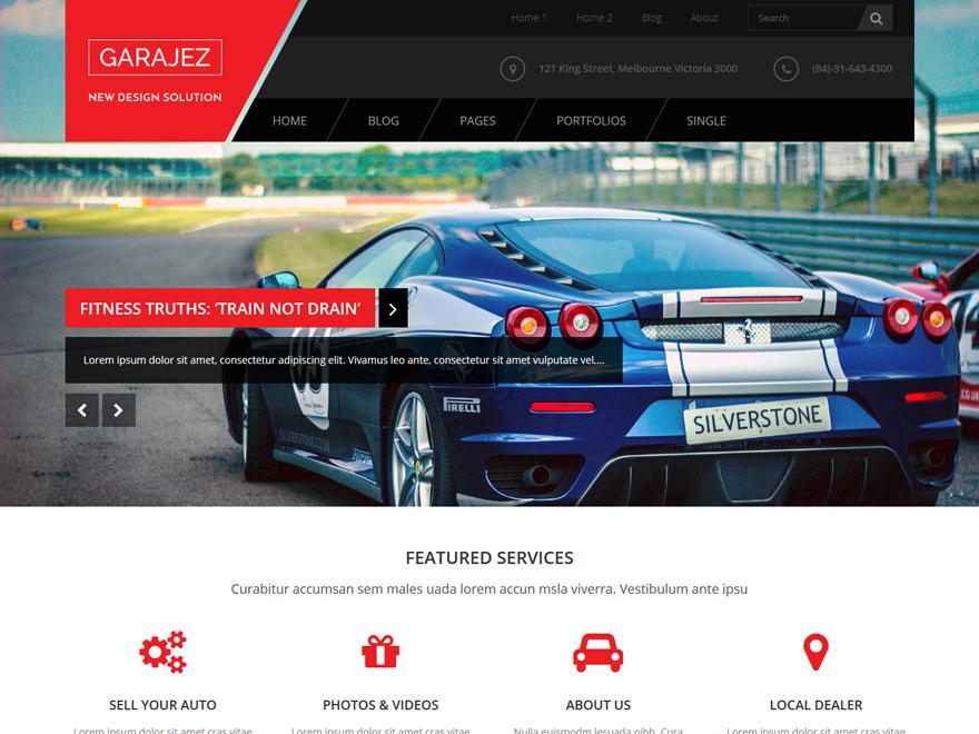 Garajez Lite WordPress Theme