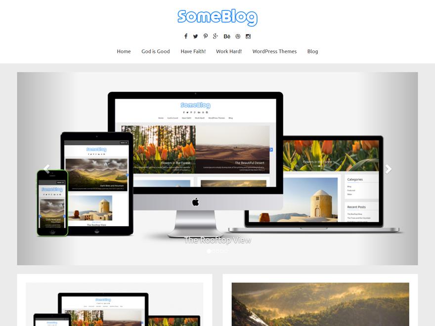 SomeBlog WordPress Theme