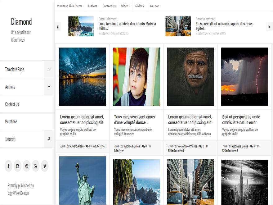 Diamond WordPress Theme Download