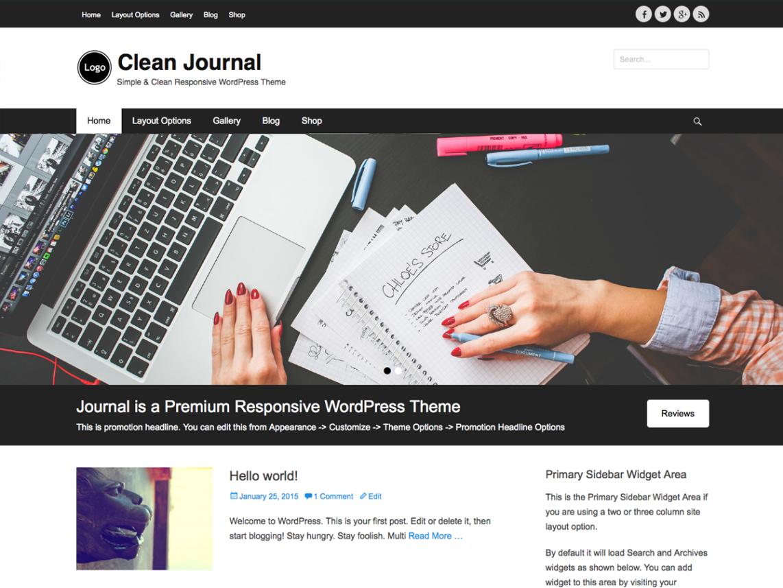 Clean Journal WordPress Theme