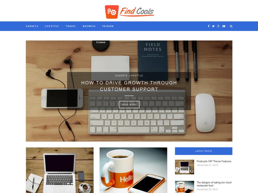 Findcools WordPress Theme
