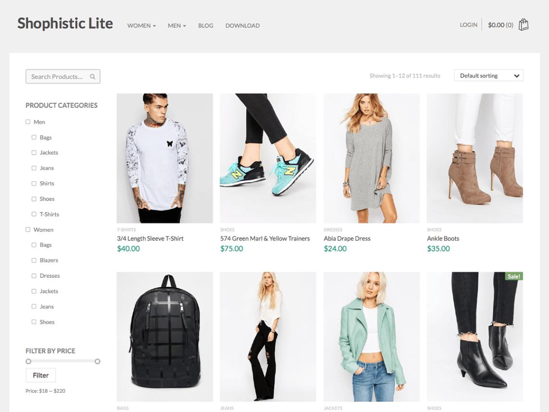 Shophistic Lite WordPress Theme