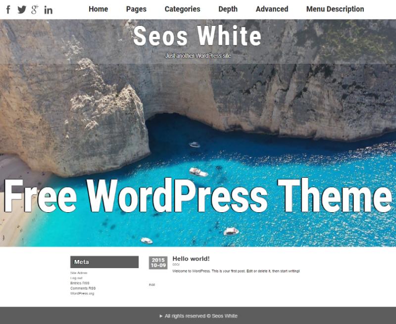 Seos White WordPress Theme
