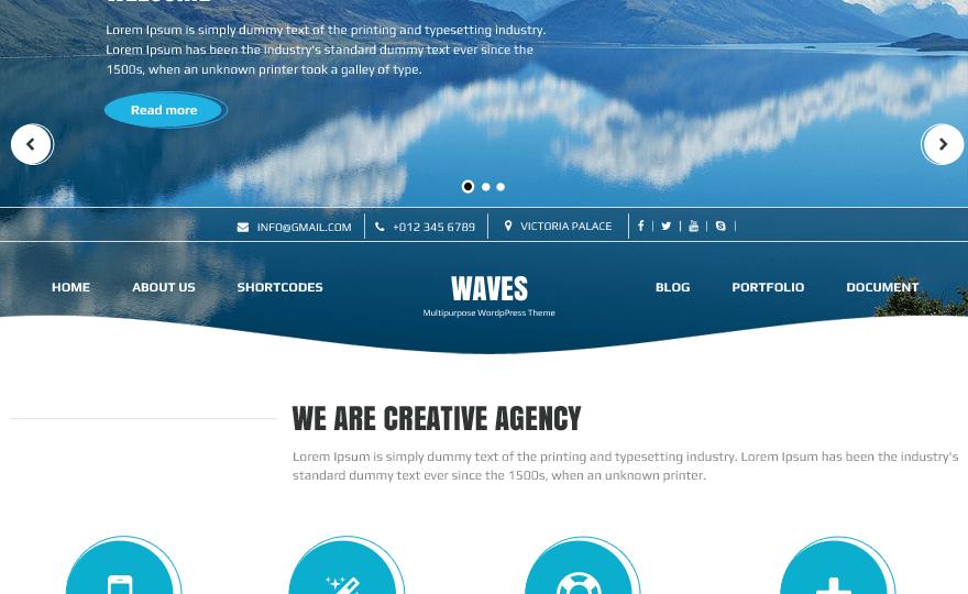 Waves WordPress Theme Download