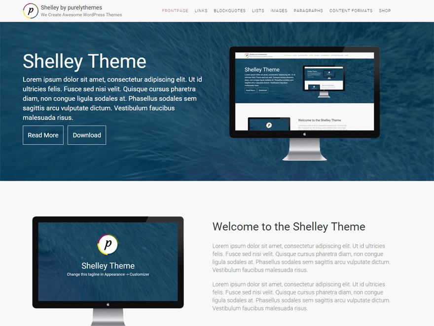Shelley WordPress Theme