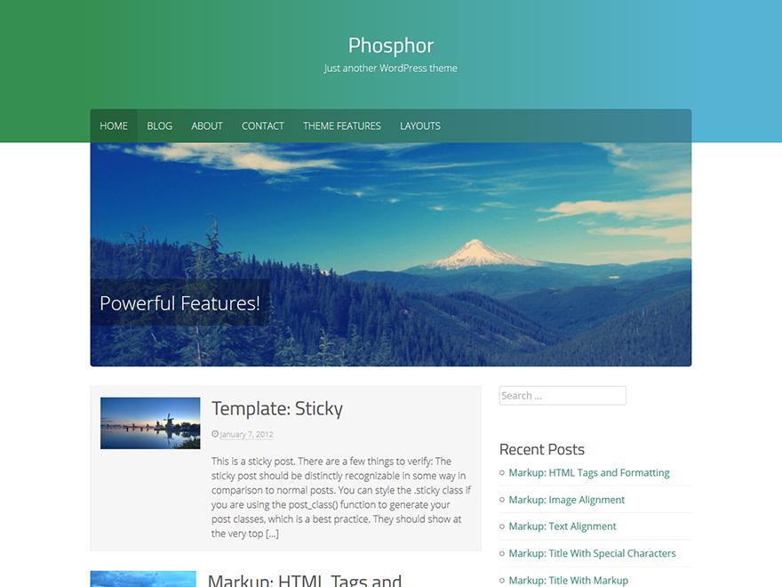 Phosphor WordPress Theme