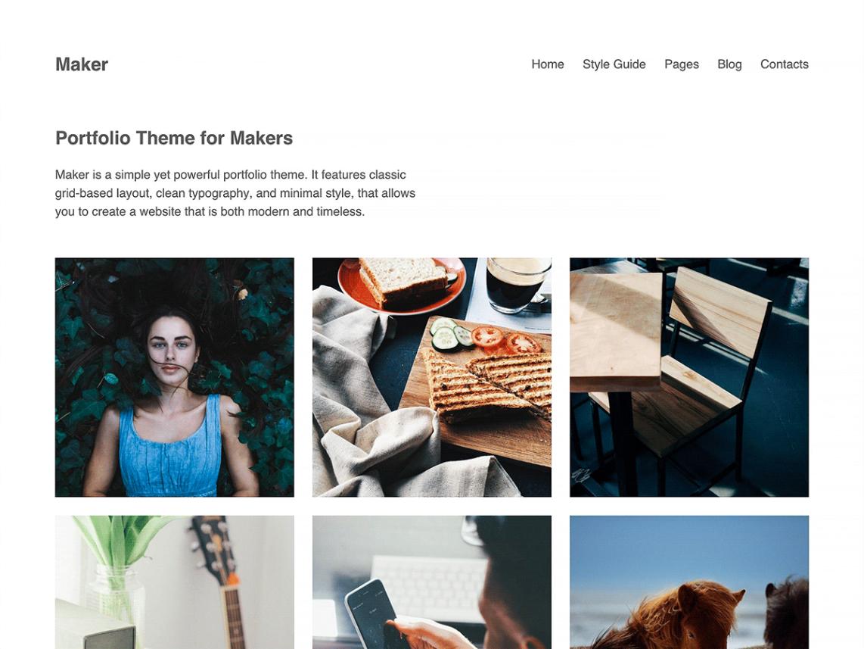 Maker WordPress Theme