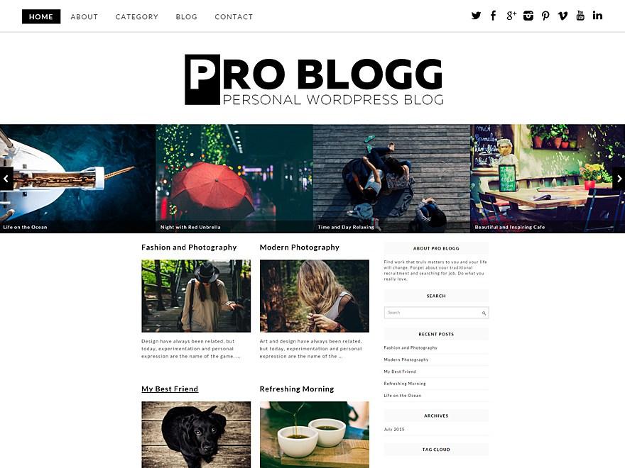 Pro Blogg Theme