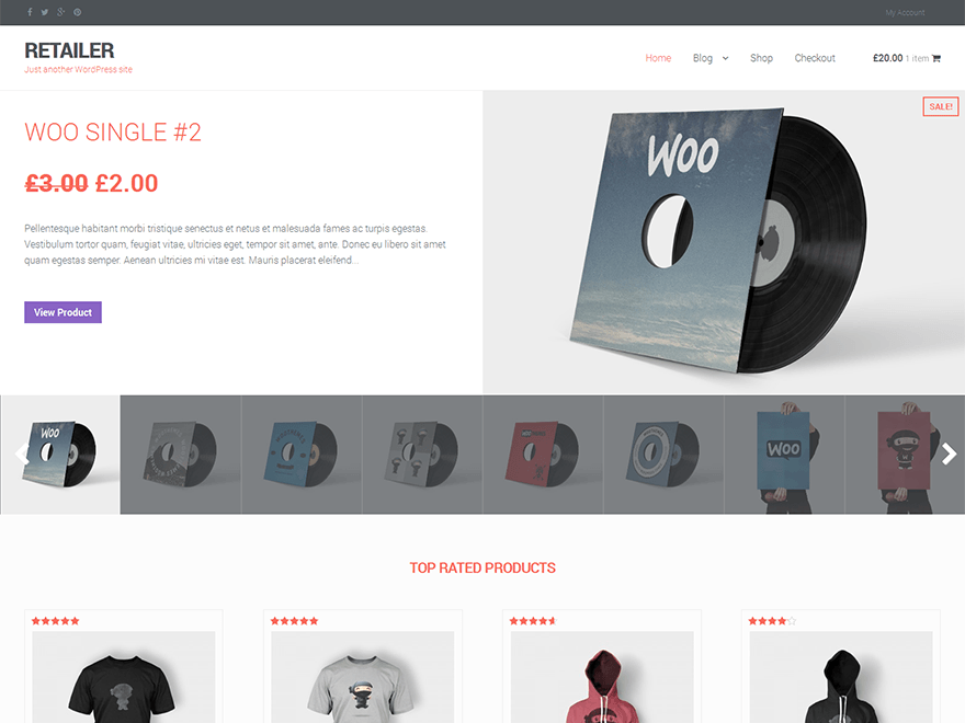 Retailer WordPress Theme