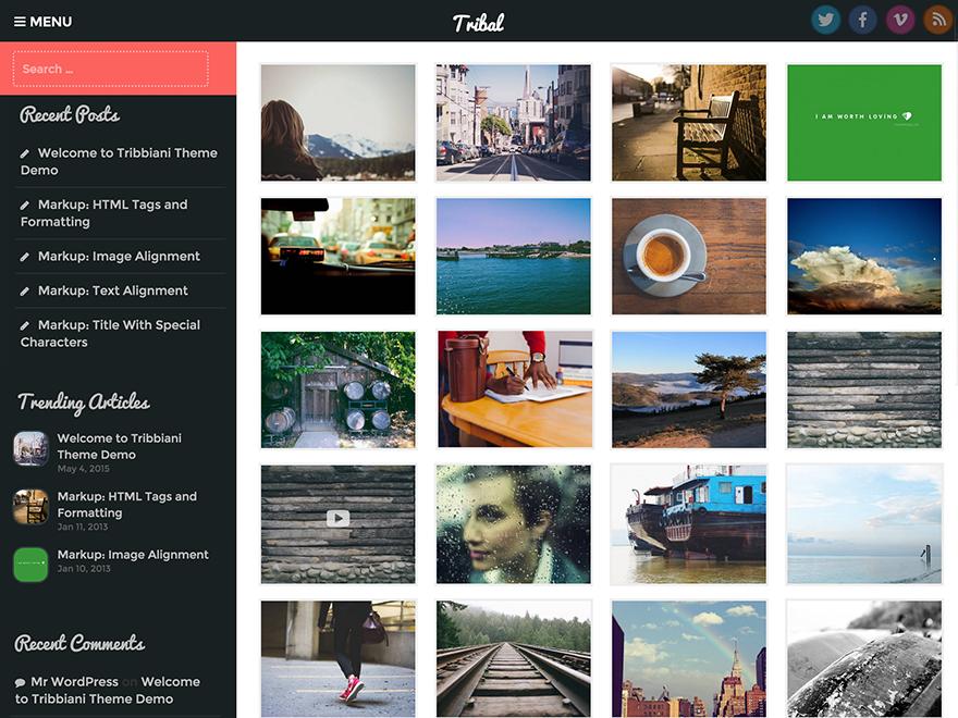 Tribal WordPress Theme Download