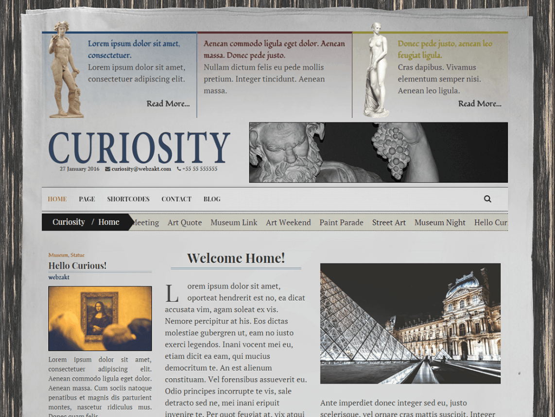 Curiosity – Responsive Newspaper Theme