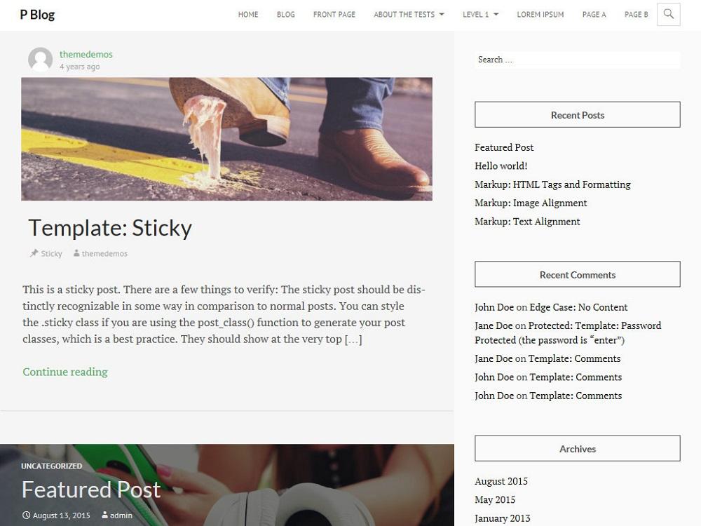 PBlog WordPress Theme Download