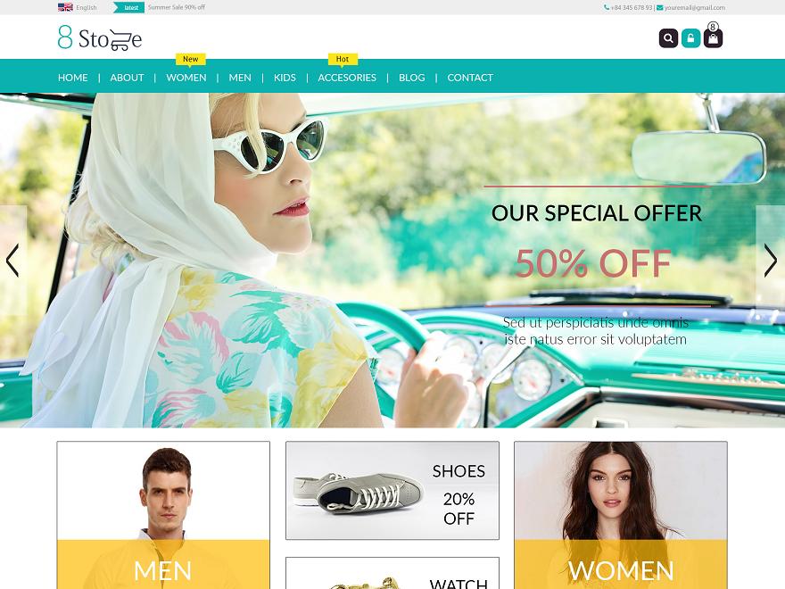 EightStore WordPress Shop Theme