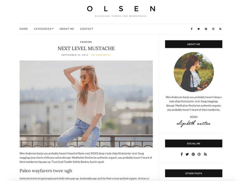 Olsen Light WordPress Theme Download