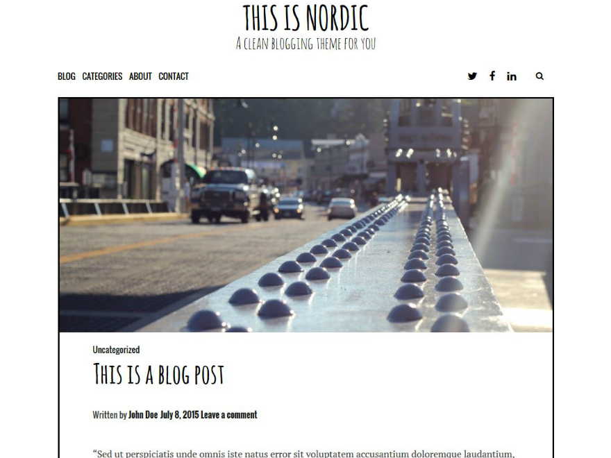 Nordic WordPress Theme Download