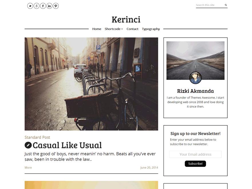 Kerinci Lite WordPress Theme Download