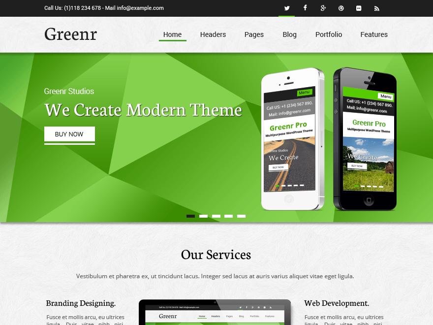Greenr WordPress Theme Download