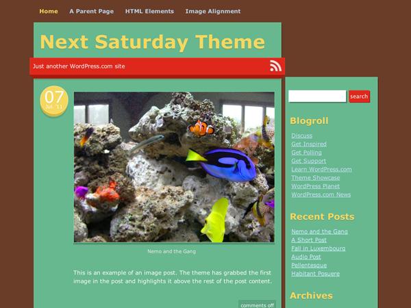 Next Saturday WordPress Theme