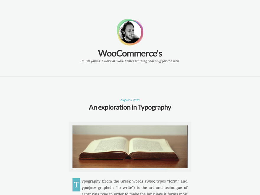 Clear Tranquil WordPress Theme