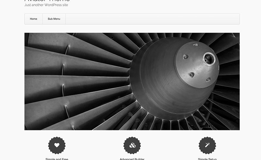 Aviator WordPress Theme
