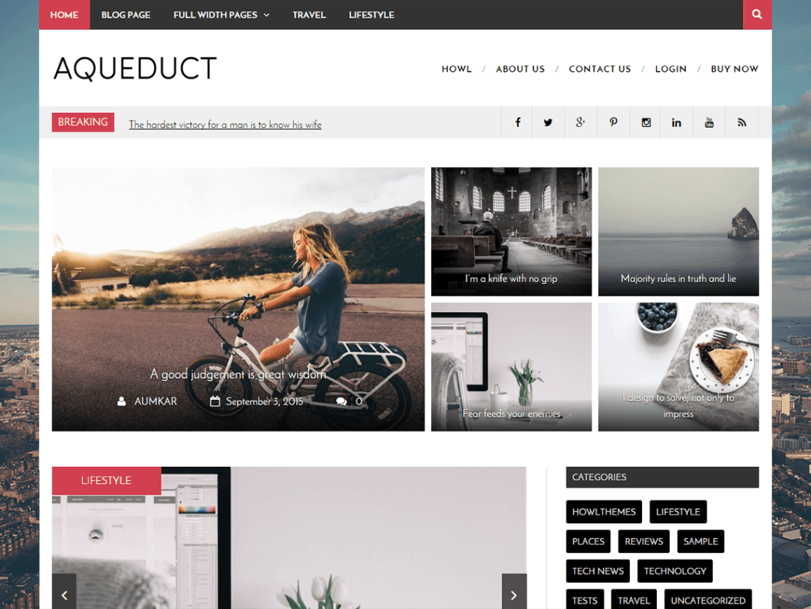 Aqueduct WordPress Theme