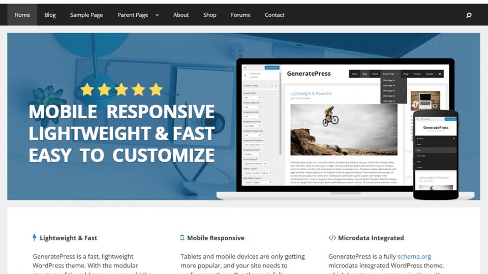 GeneratePress Wordpres Theme