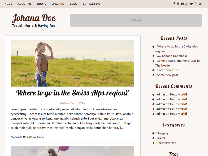 Rakiya WordPress Theme