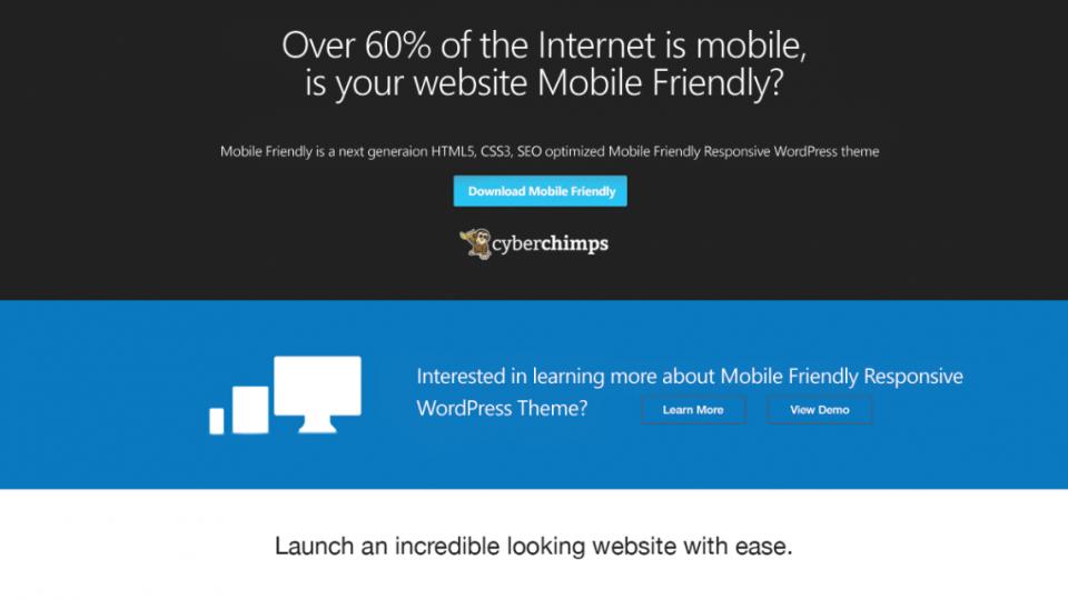 Mobile Friendly WordPress Theme