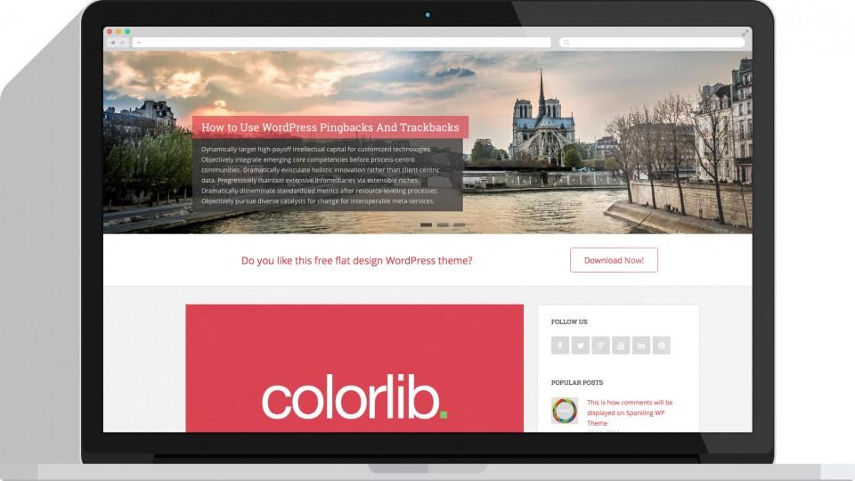 Sparkling – Free Flat Design WordPress Theme