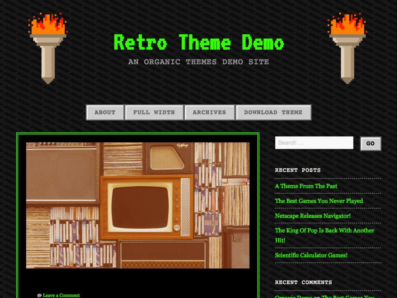 90s Retro WordPress Theme