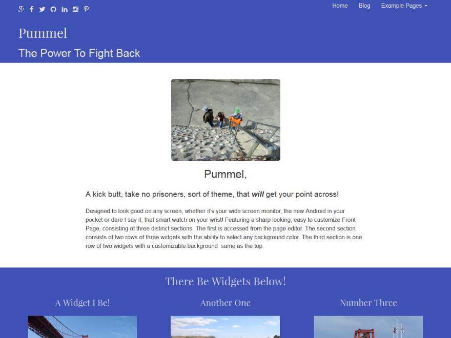 Pummel WordPress Theme