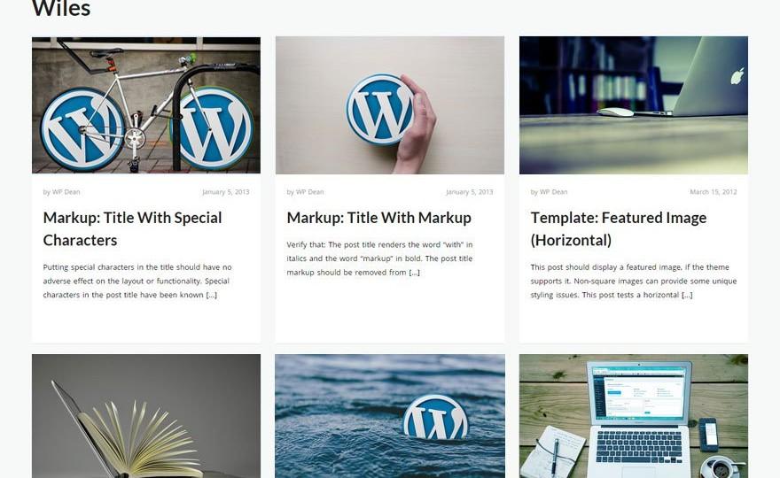Wiles WordPress Theme