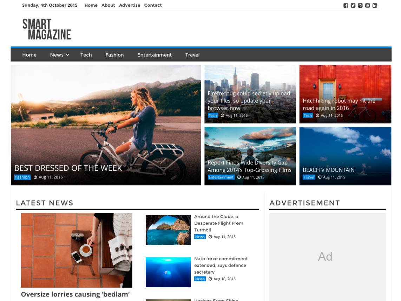 Smart Magazine WordPress Theme